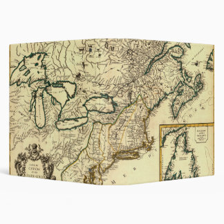 1778 Map of Canada and the United States 3 Ring Binder