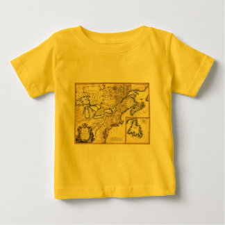 1778 Map of Canada and the United States Baby T-Shirt