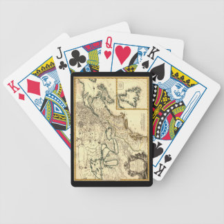 1778 Map of Canada and the United States Bicycle Playing Cards
