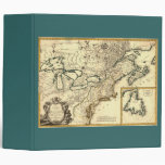 1778 Map of Canada and the United States Vinyl Binder