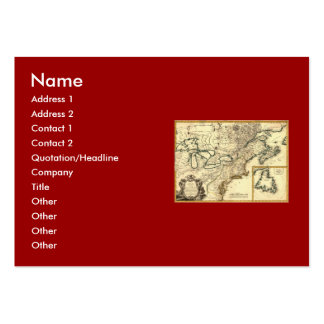 1778 Map of Canada and the United States Business Card Templates