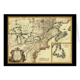 1778 Map of Canada and the United States Card