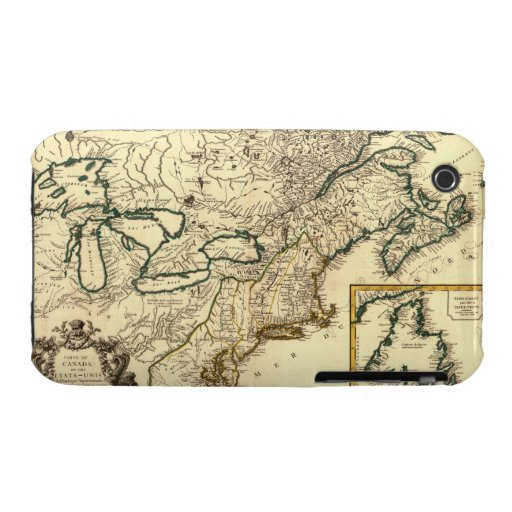 1778 Map of Canada and the United States iPhone 3 Case-Mate Cases