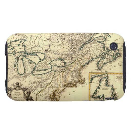 1778 Map of Canada and the United States iPhone 3 Tough Covers