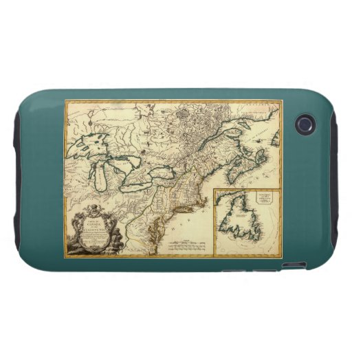 1778 Map of Canada and the United States iPhone 3 Tough Case