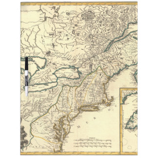Old Map Dry Erase Boards Zazzle - Us map dry erase