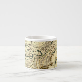 1778 Map of Canada and the United States Espresso Cup