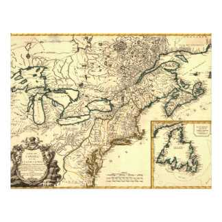1778 Map of Canada and the United States Flyer