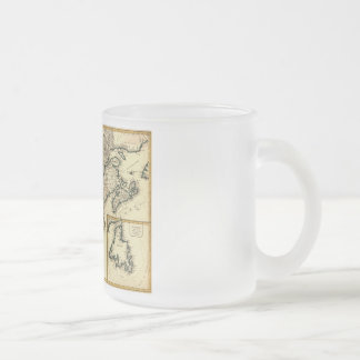 1778 Map of Canada and the United States Frosted Glass Coffee Mug