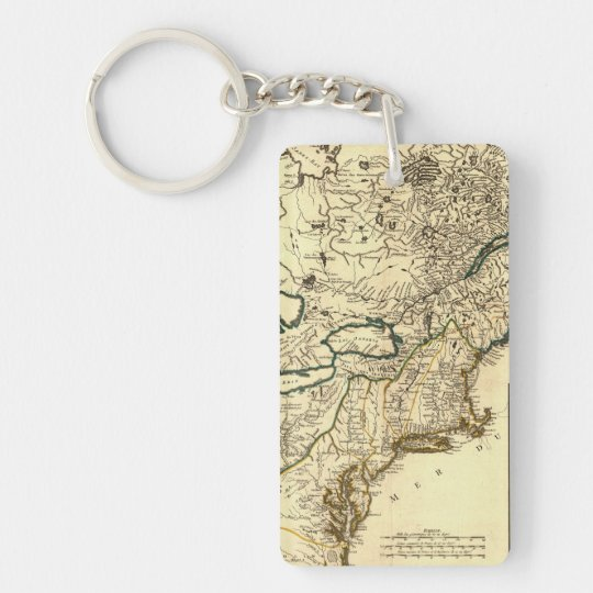 1778 Map of Canada and the United States Keychain