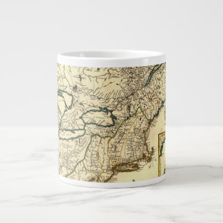 1778 Map of Canada and the United States Large Coffee Mug