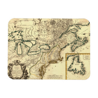 1778 Map of Canada and the United States Magnet