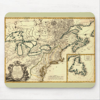 1778 Map of Canada and the United States Mouse Pad
