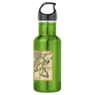 1778 Map of Canada and the United States 18oz Water Bottle