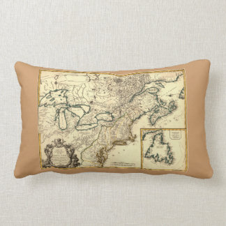 1778 Map of Canada and the United States Pillow