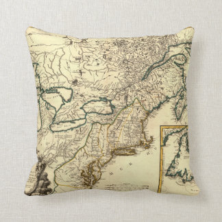 1778 Map of Canada and the United States Pillows