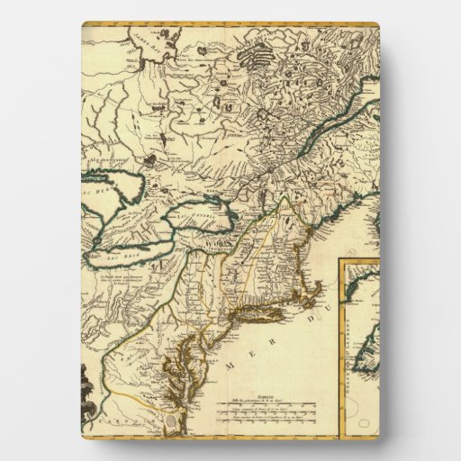1778 Map of Canada and the United States Plaques
