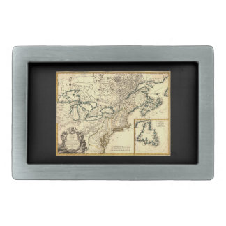 1778 Map of Canada and the United States Rectangular Belt Buckle