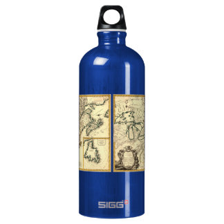 1778 Map of Canada and the United States SIGG Traveler 1.0L Water Bottle