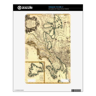 1778 Map of Canada and the United States Skins For Kindle