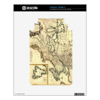 1778 Map of Canada and the United States Decals For Kindle 3