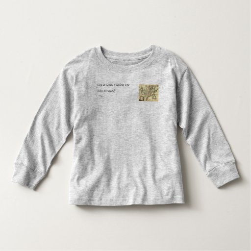 1778 Map of Canada and the United States Toddler T-shirt