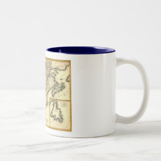 1778 Map of Canada and the United States Two-Tone Coffee Mug