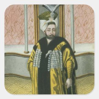 1779-1808) sultanes de Mustapha IV (1807-8, 'de un Calcomania Cuadrada Personalizada