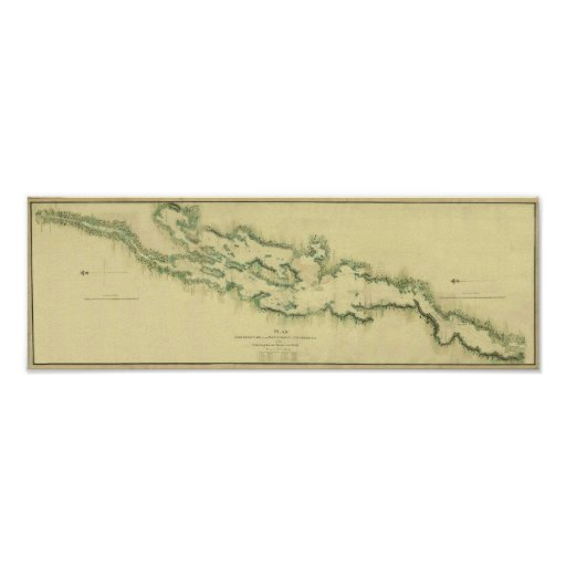 1779 Chart of Lake Champlain Poster