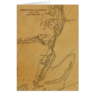 1779 Map of Chatham, Massachusetts Greeting Card