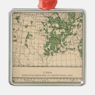 177 Plums, prunes, figs, principal regions Metal Ornament