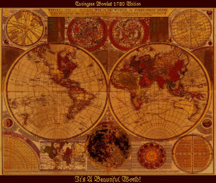 1780 world map posters photo prints zazzle 1780 old world map art poster gumiabroncs Images