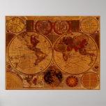 1780 Old World Map Art Print