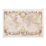 1782 Baldwyn Map of the World Canvas Print