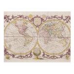 1782 Baldwyn Map of the World Postcard