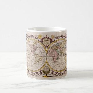 1782 Map of the World by George Augustus Baldwyn Coffee Mug