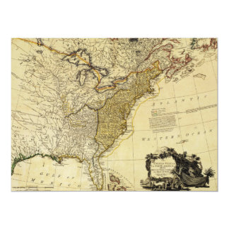 1784 Map of the United States of America by Faden Card