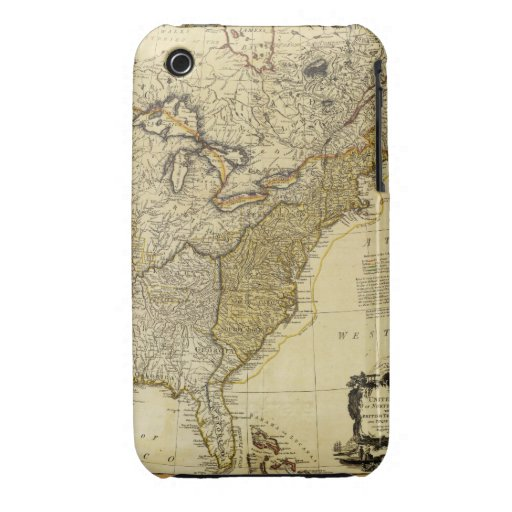 1784 Map of the United States of America by Faden iPhone 3 Case-Mate Cases