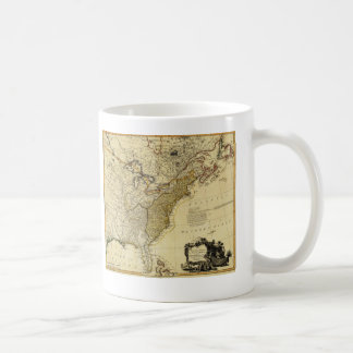 1784 Map of the United States of America by Faden Coffee Mug