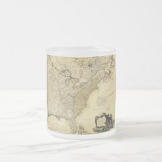 1784 Map of the United States of America by Faden Frosted Glass Coffee Mug