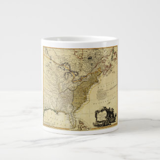 1784 Map of the United States of America by Faden Giant Coffee Mug