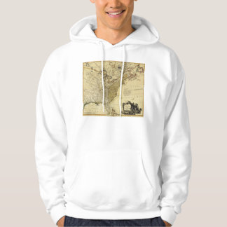 1784 Map of the United States of America by Faden Hoodie
