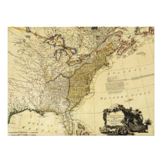 1784 Map of the United States of America by Faden Announcement