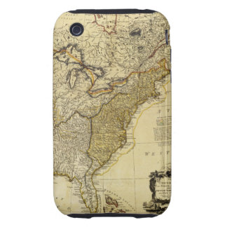 1784 Map of the United States of America by Faden iPhone 3 Tough Cover