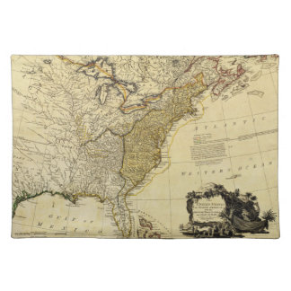 1784 Map of the United States of America by Faden Placemat