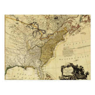 1784 Map of the United States of America by Faden Postcard