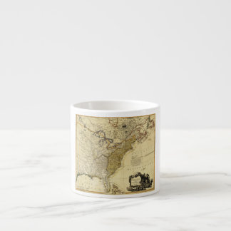 1784 Map of the United States of America by Faden 6 Oz Ceramic Espresso Cup