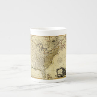 1784 Map of the United States of America by Faden Tea Cup