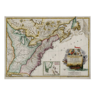 1784 Map of the United States of America Posters
