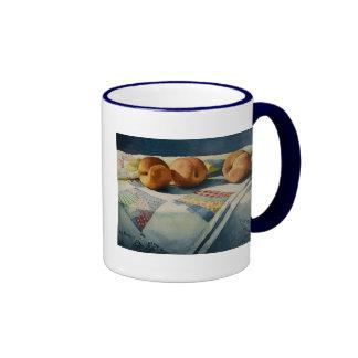 1786 Peaches on Quilt Mug